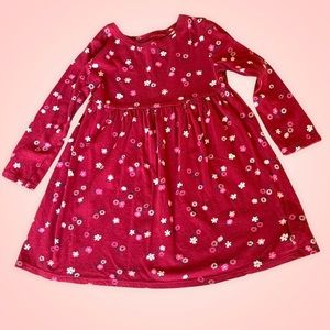 Long-Sleeve Fit & Flare Printed Dress Size 3T